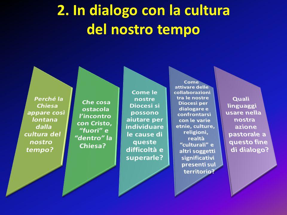 2. In dialogo con la cultura del nostro tempo