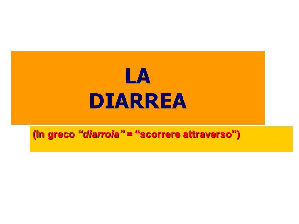 LA DIARREA (In greco diarroia = scorrere attraverso)