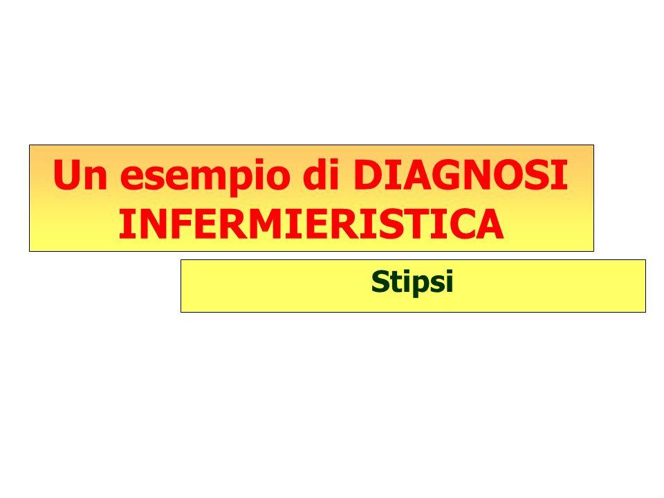 Un esempio di DIAGNOSI INFERMIERISTICA Stipsi