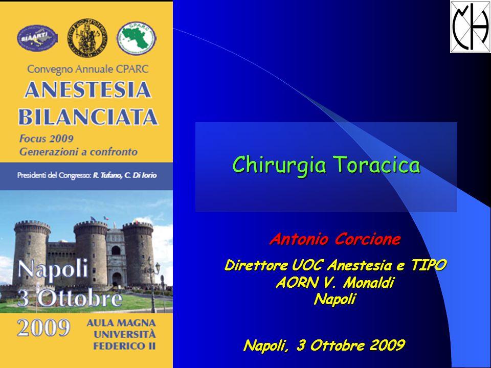 Chirurgia Toracica Antonio Corcione Direttore UOC Anestesia e TIPO AORN V. Monaldi Napoli Napoli, 3 Ottobre 2009