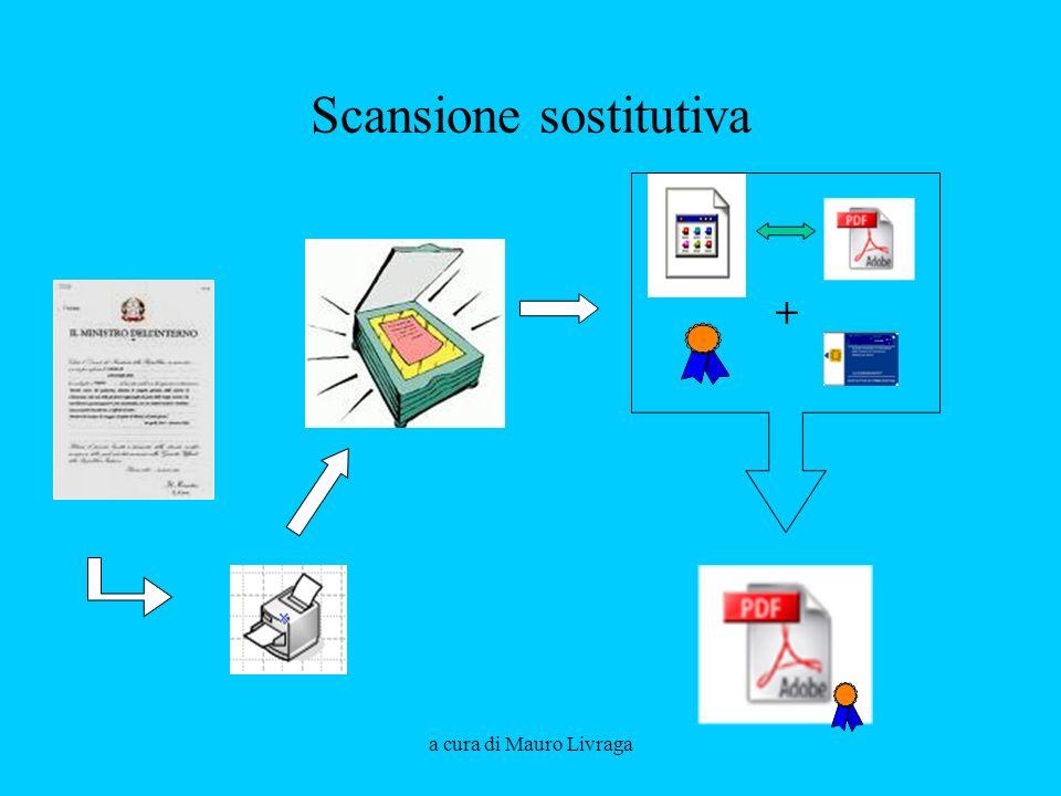 a cura di Mauro Livraga Scansione sostitutiva +