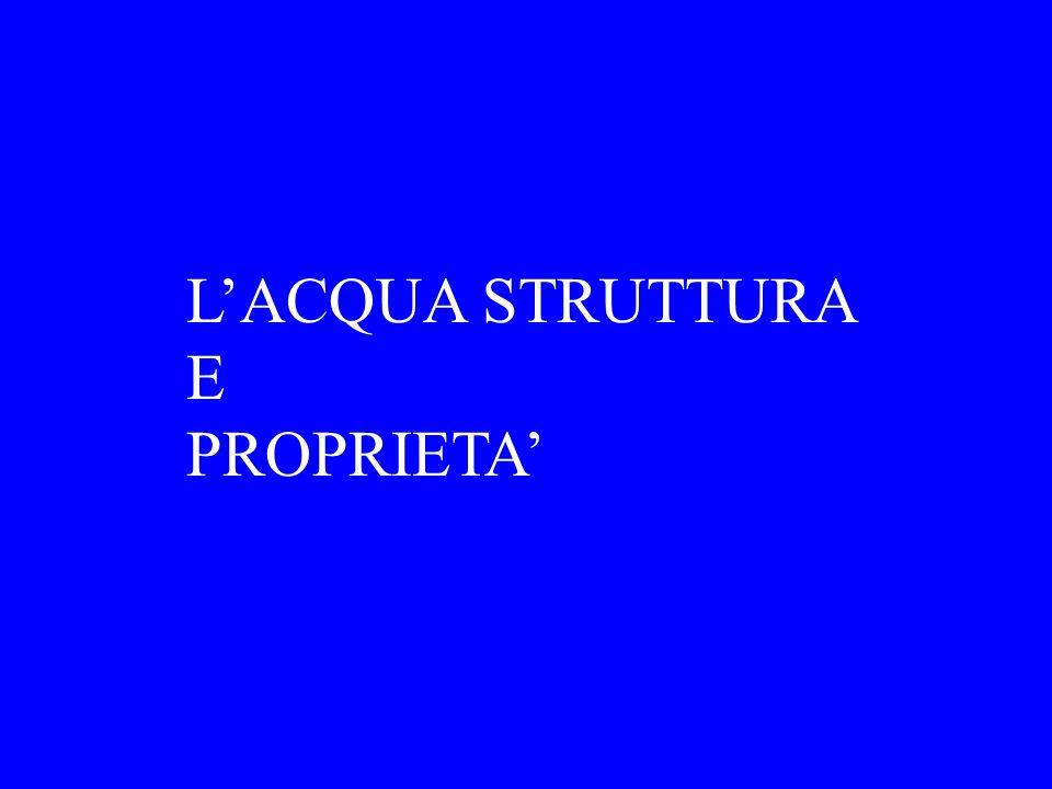 LACQUA STRUTTURA E PROPRIETA