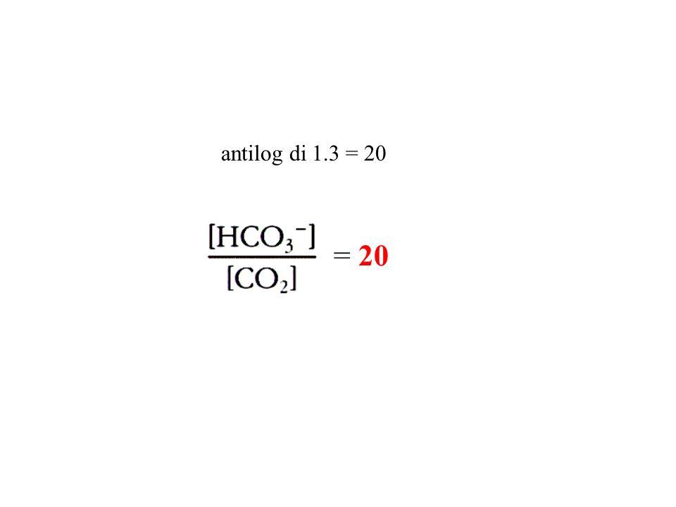 = 20 antilog di 1.3 = 20