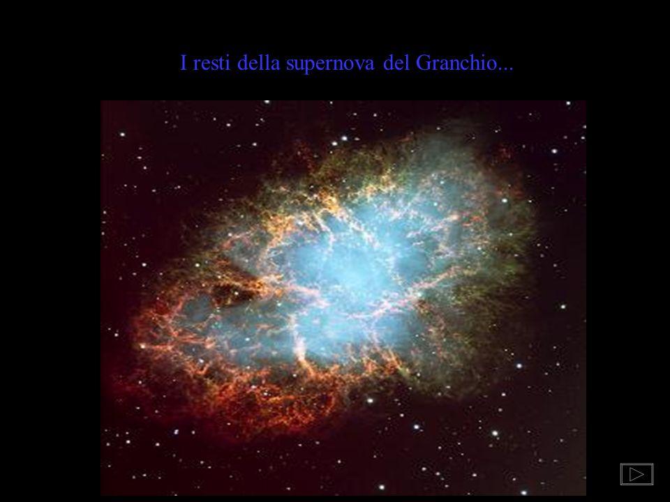 EVOLUZIONE STELLARE Le stelle con massa di 6 - 8 volte superiore a quella solare, dopo una fase più stabile da gigante rossa, evolvono rapidamente, gi
