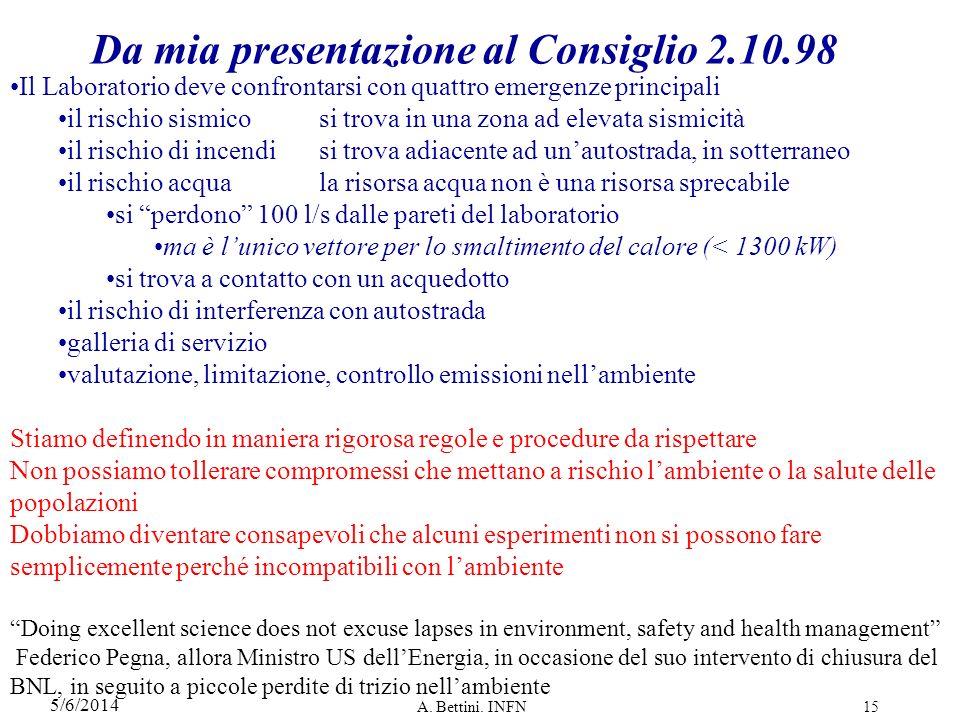 5/6/2014 A.Bettini.