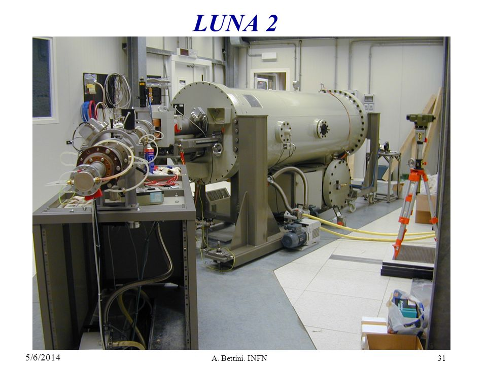 5/6/2014 A. Bettini. INFN31 LUNA 2