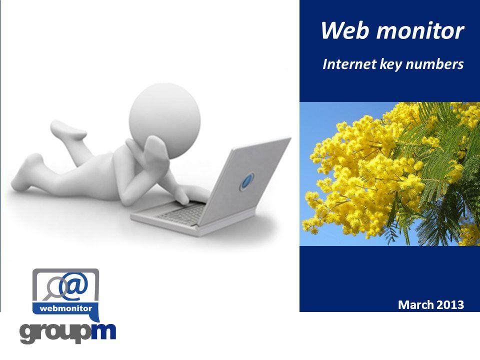 March 2013: highlights A Marzo 2013 gli italiani online sono 14,8 milioni su base giornaliera e 29,3 milioni nel mese, con un incremento del 6% rispetto allomologo 2012.