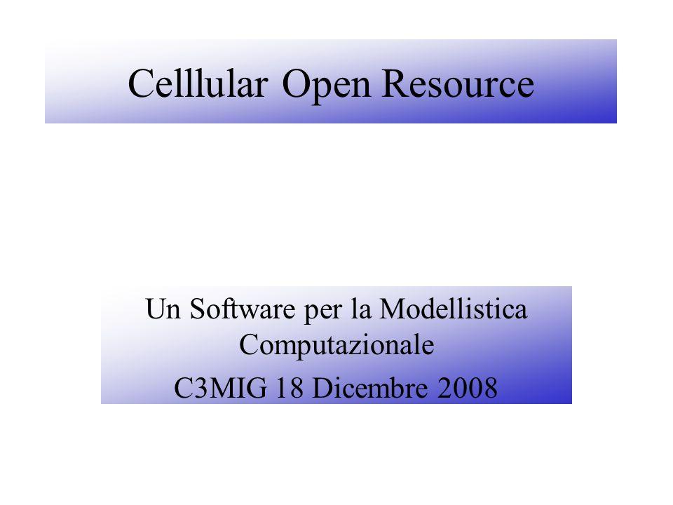 Un Software per la Modellistica Computazionale C3MIG 18 Dicembre 2008 Celllular Open Resource