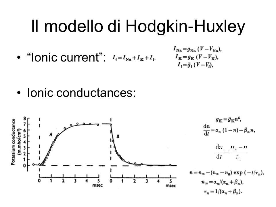 Ionic current: Ionic conductances: