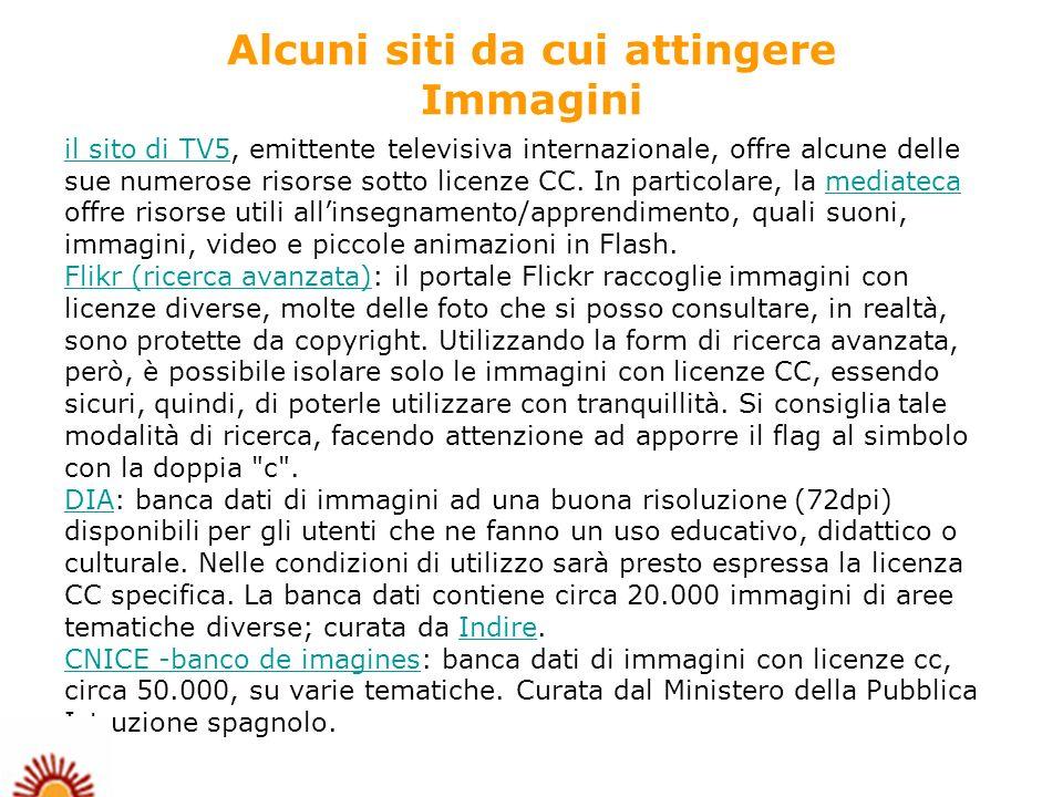 il sito di TV5il sito di TV5, emittente televisiva internazionale, offre alcune delle sue numerose risorse sotto licenze CC.