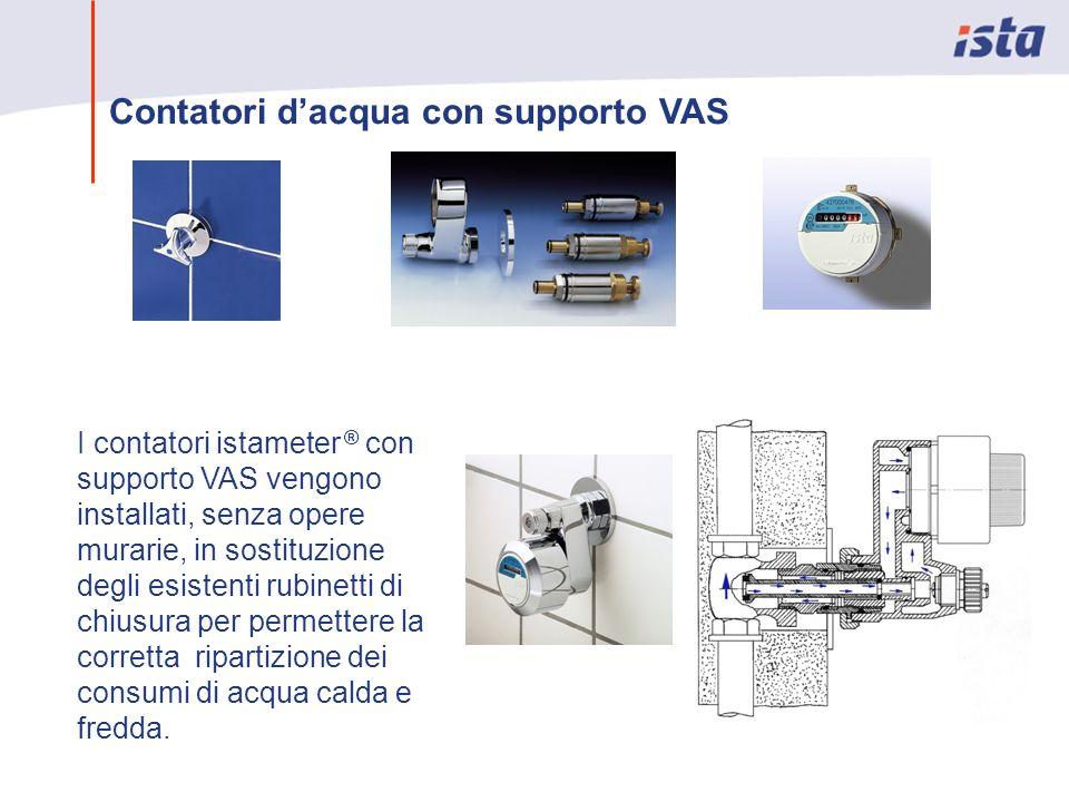 Contatori dacqua con supporto VAS I contatori istameter ® con supporto VAS vengono installati, senza opere murarie, in sostituzione degli esistenti ru
