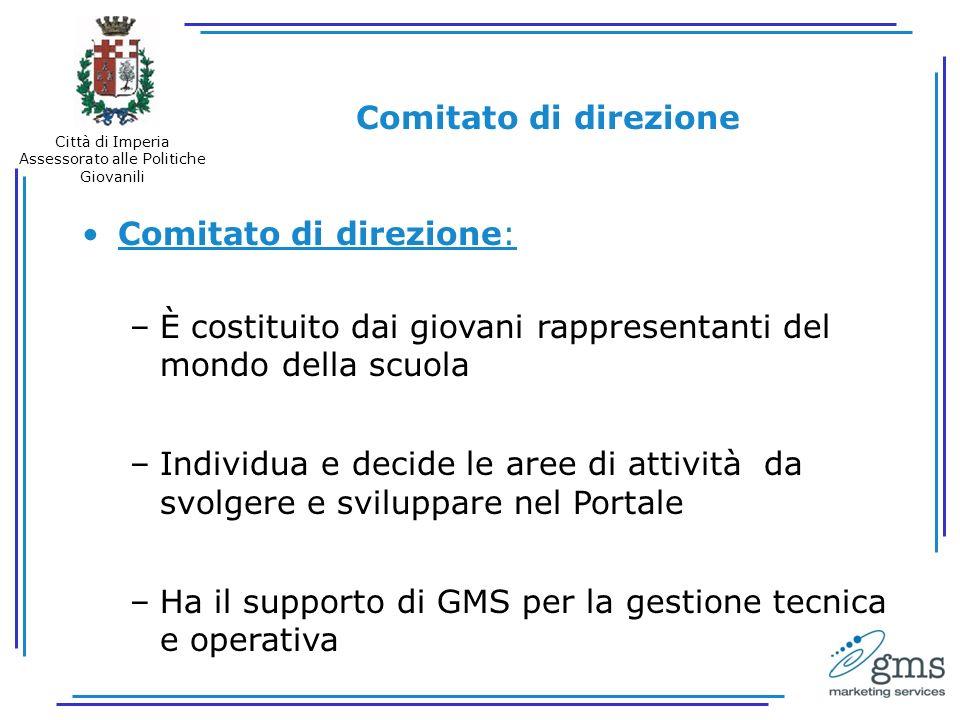 Comitati di redazione Ogni Sezione del Portale è diretta da un Comitato di redazione.