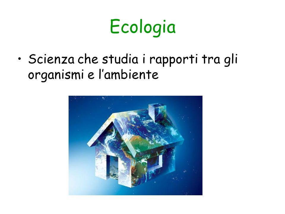 Ecologia Scienza che studia i rapporti tra gli organismi e lambiente