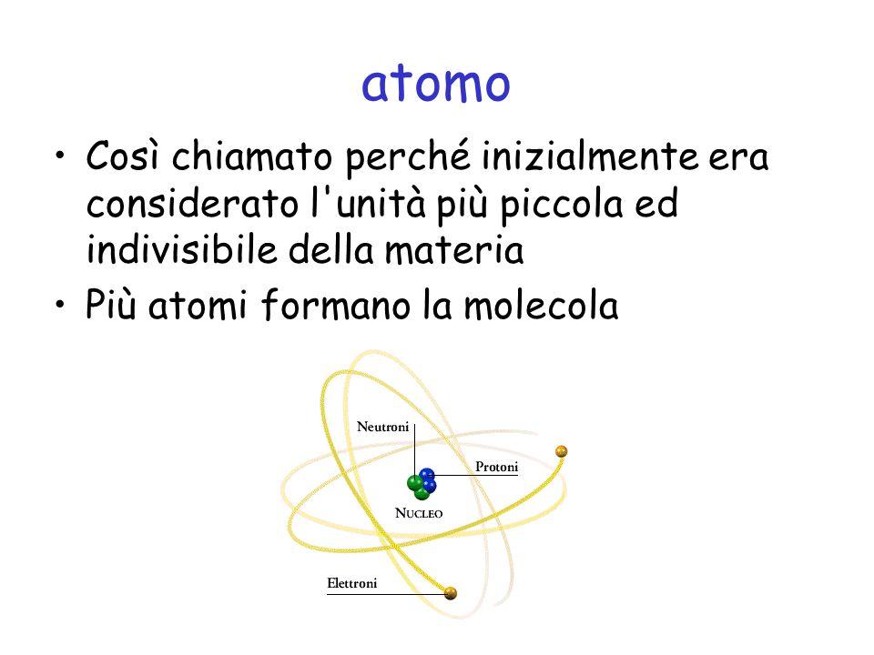 Le molecole Il continuo movimento molecolare è chiamato energia cinetica o agitazione termica La forza che le tiene assieme è detta forza di coesione