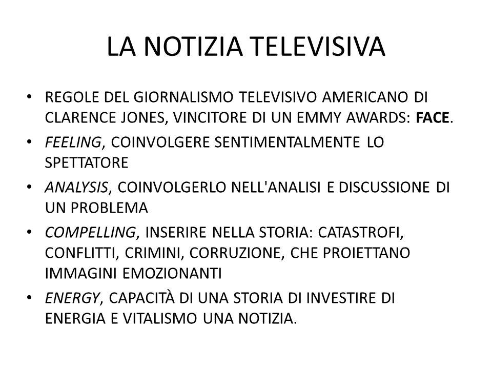 LA NOTIZIA TELEVISIVA REGOLE DEL GIORNALISMO TELEVISIVO AMERICANO DI CLARENCE JONES, VINCITORE DI UN EMMY AWARDS: FACE.