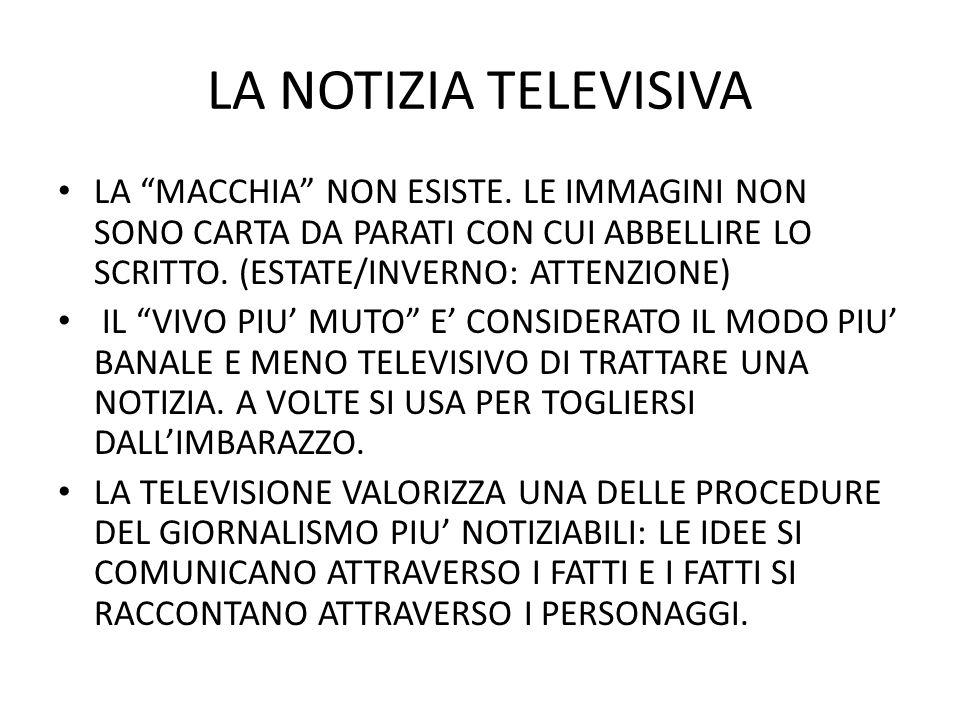 LA NOTIZIA TELEVISIVA LA MACCHIA NON ESISTE.