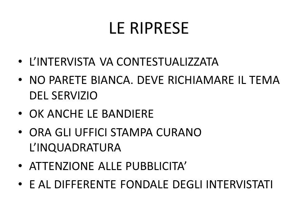 LE RIPRESE MUSICA.NEL GR E NEL TG MEGLIO DI NO NEL REPORTAGE SI EFFETTI INVECE SEMPRE.