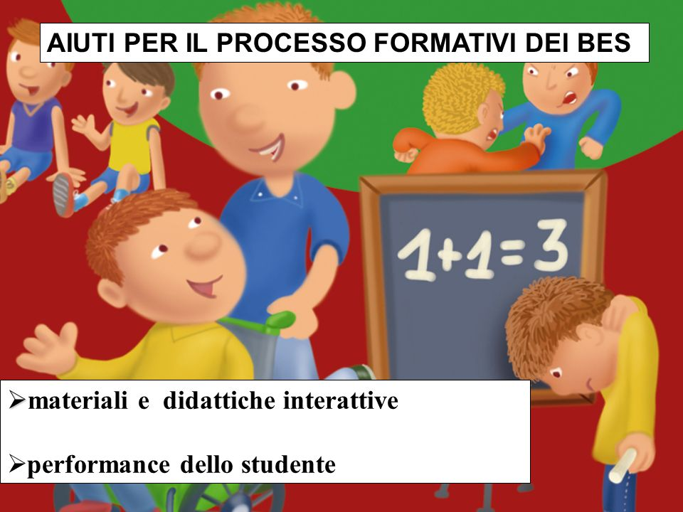 AIUTI PER IL PROCESSO FORMATIVI DEI BES materiali e didattiche interattive performance dello studente