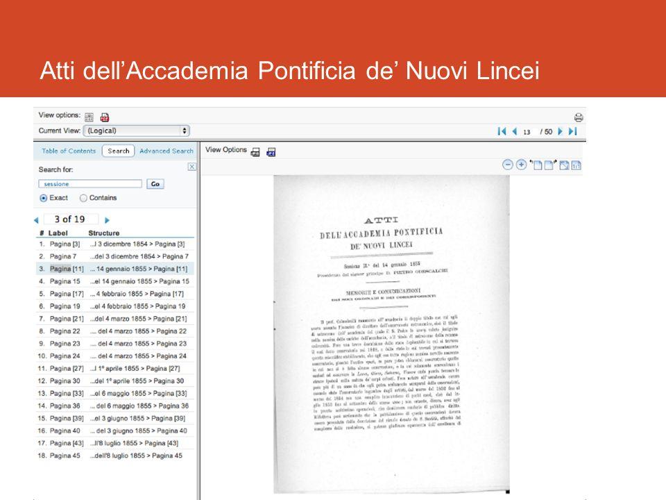 Atti dellAccademia Pontificia de Nuovi Lincei