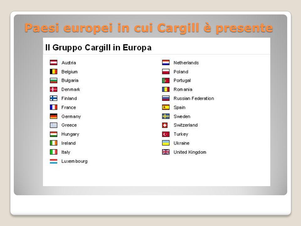 Paesi europei in cui Cargill è presente