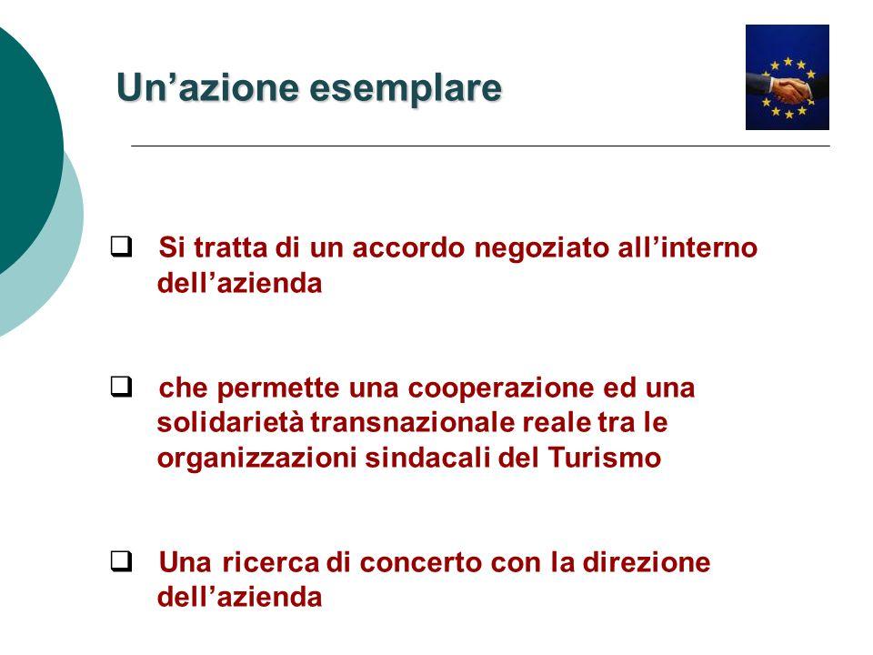 Si tratta di un accordo negoziato allinterno dellazienda che permette una cooperazione ed una solidarietà transnazionale reale tra le organizzazioni s