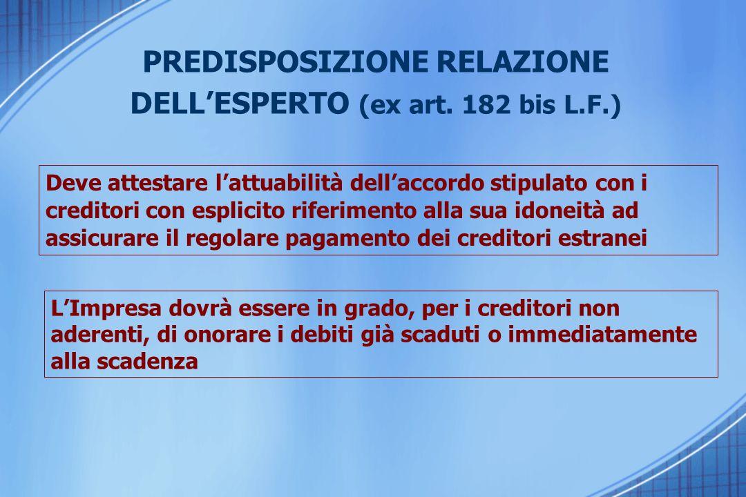 PREDISPOSIZIONE RELAZIONE DELLESPERTO (ex art.