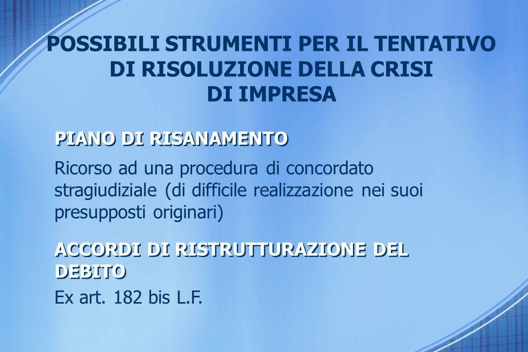 REQUISITI DEL CONSULENTE ART.67 3° comma lett. D L.F.