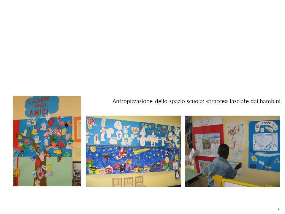 Antropizzazione dello spazio scuola: «tracce» lasciate dai bambini. 4