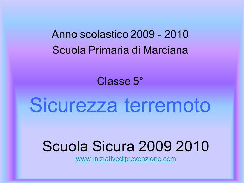Scuola Sicura 2009 2010 www.iniziativediprevenzione.com www.iniziativediprevenzione.com Anno scolastico 2009 - 2010 Scuola Primaria di Marciana Classe