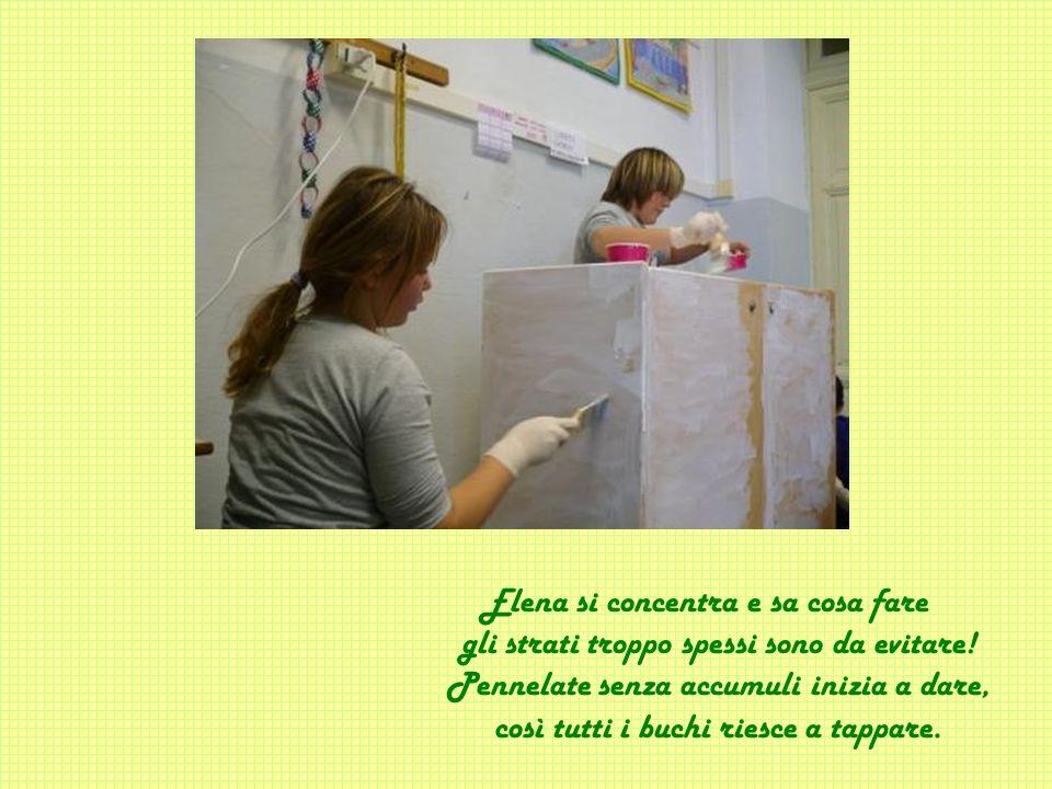 Elena si concentra e sa cosa fare gli strati troppo spessi sono da evitare.