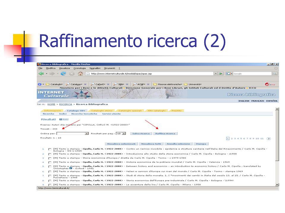 Raffinamento ricerca (2)