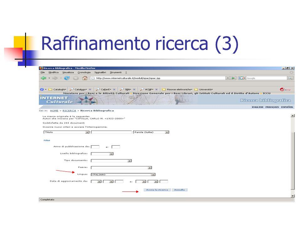 Raffinamento ricerca (3)