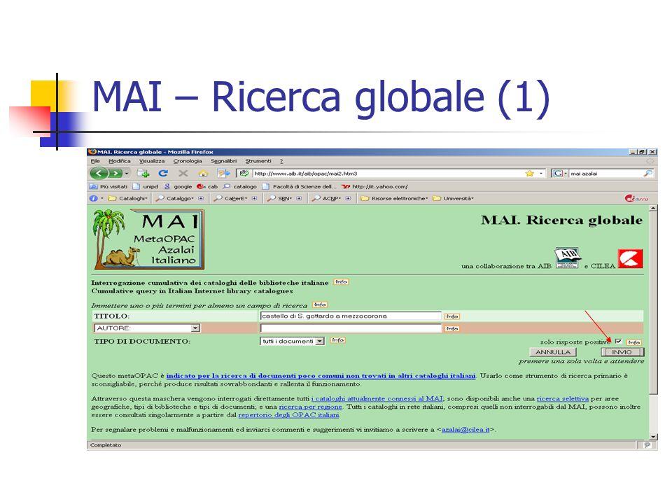 MAI – Ricerca globale (1)