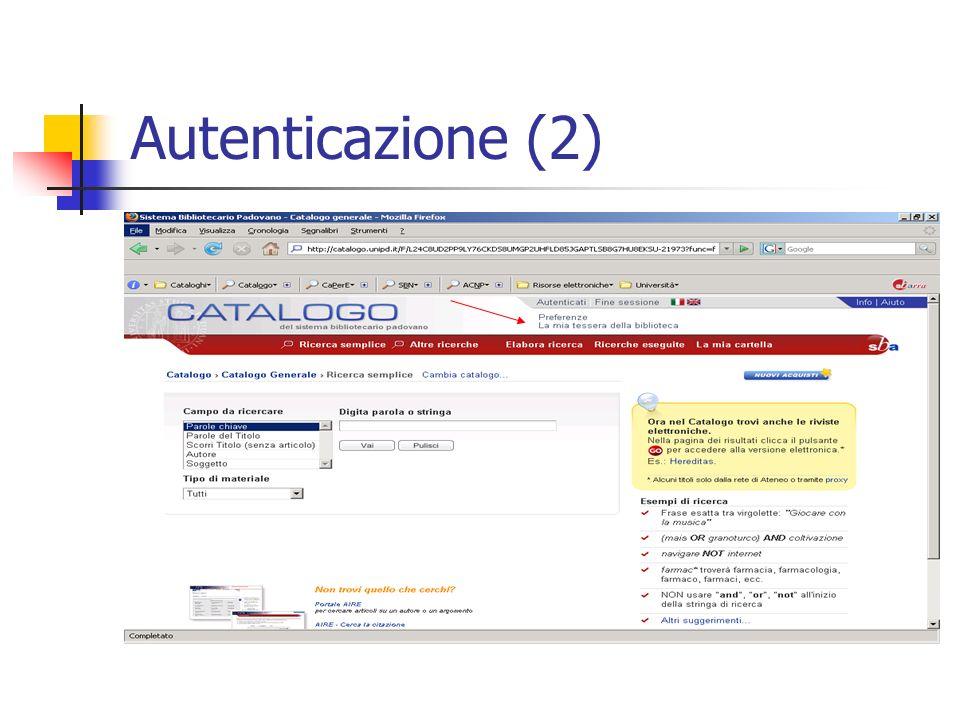 Autenticazione (2)
