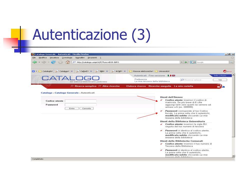 Autenticazione (3)