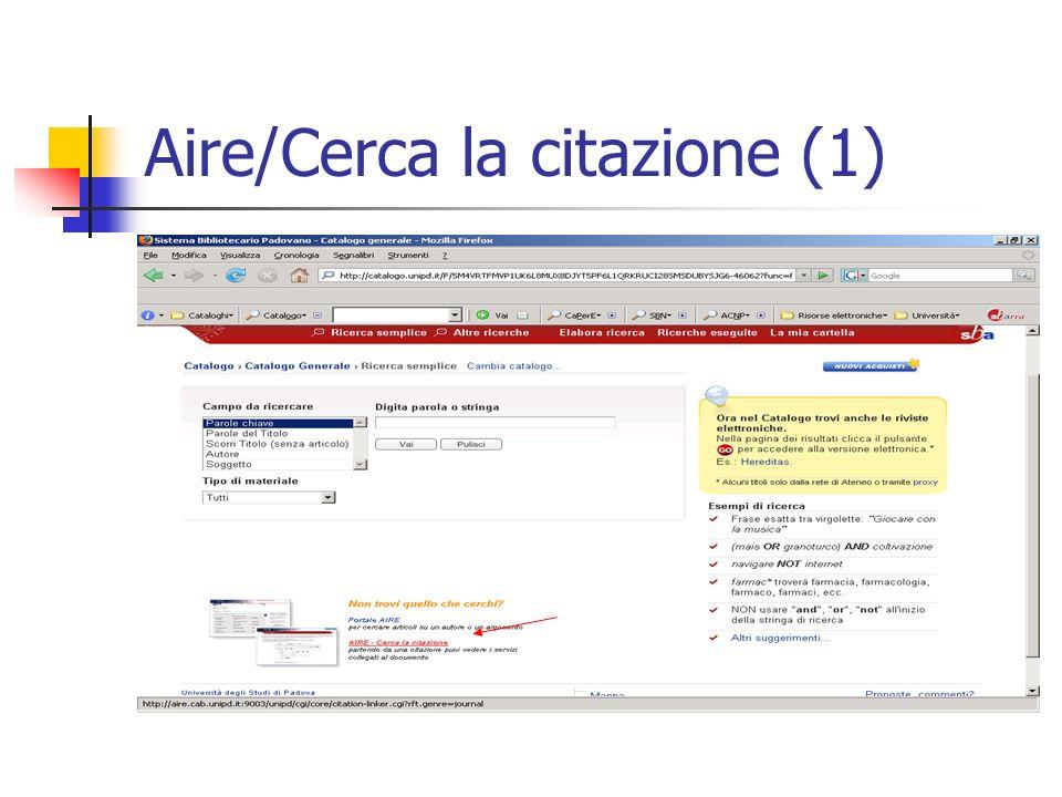 Aire/Cerca la citazione (1)
