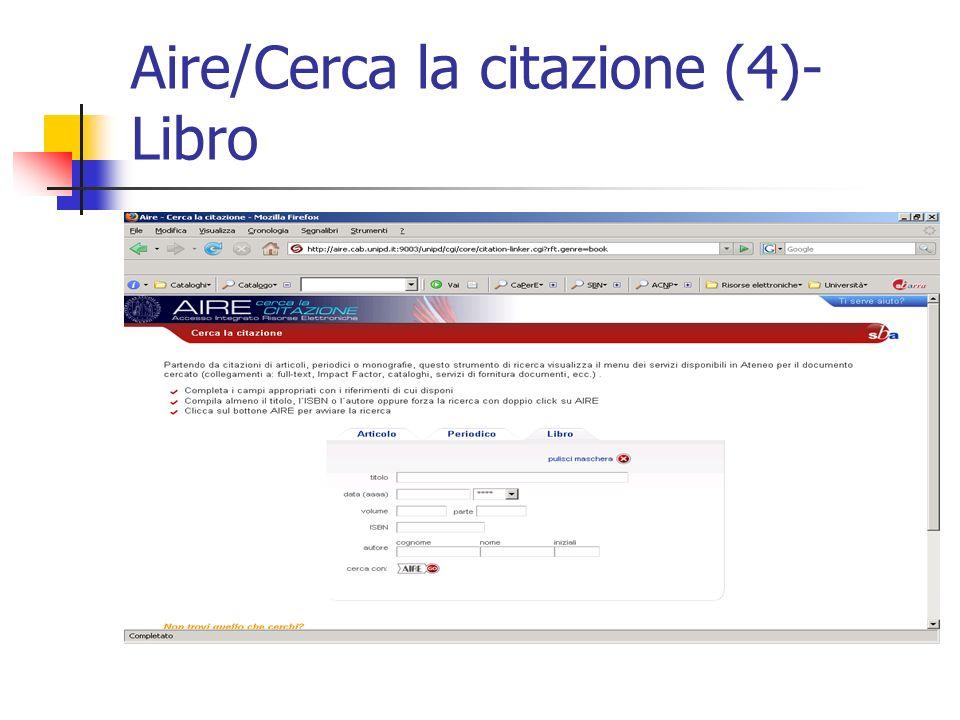 Aire/Cerca la citazione (4)- Libro