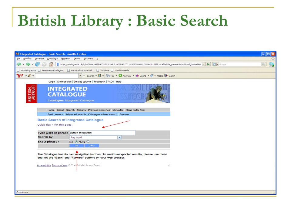 British Library : Basic Search