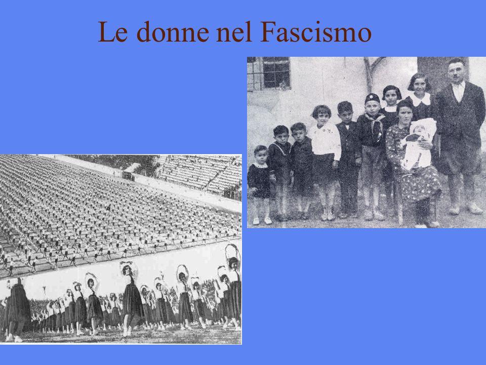 Le donne nel Fascismo