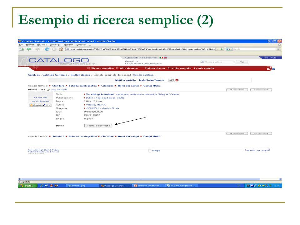 Esempio di ricerca semplice (2)