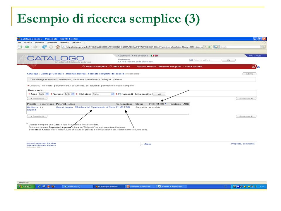 Esempio di ricerca semplice (3)