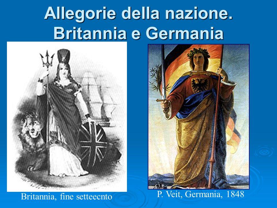 Allegorie della nazione. Britannia e Germania Britannia, fine setteecnto P. Veit, Germania, 1848