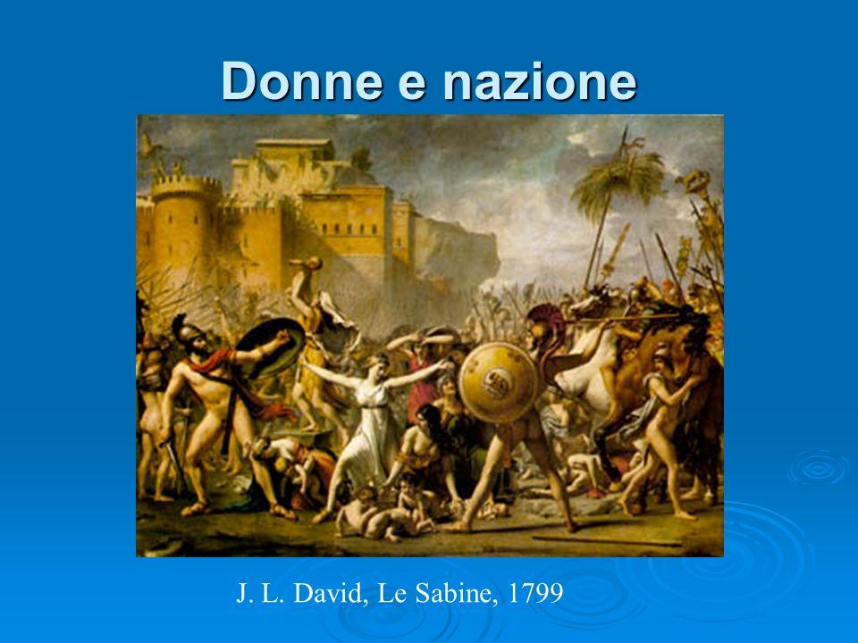 Donne e nazione J. L. David, Le Sabine, 1799