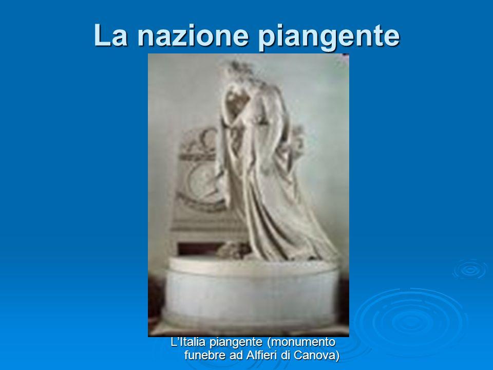 LItalia piangente (monumento funebre ad Alfieri di Canova) La nazione piangente