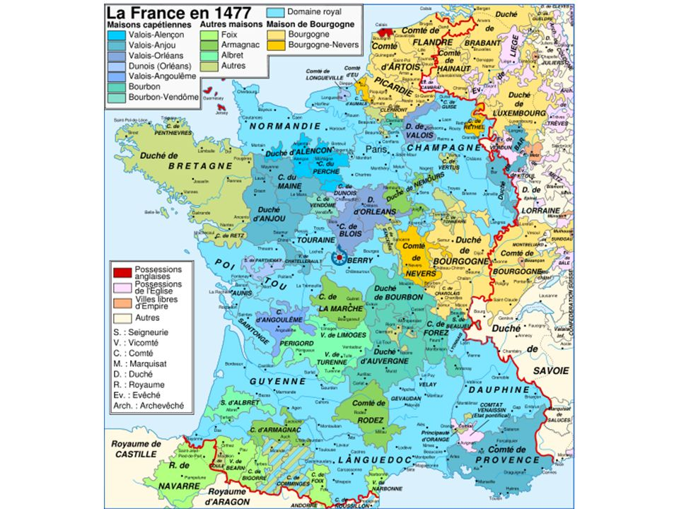 Carta della Francia, 1477