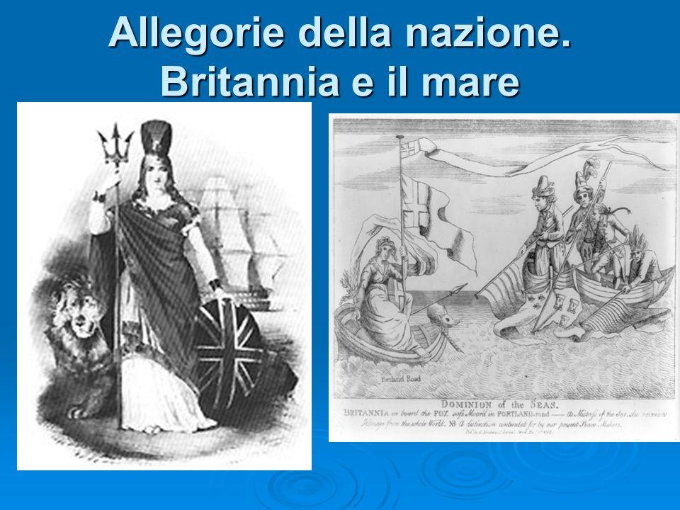 Allegorie della nazione. Britannia vs America