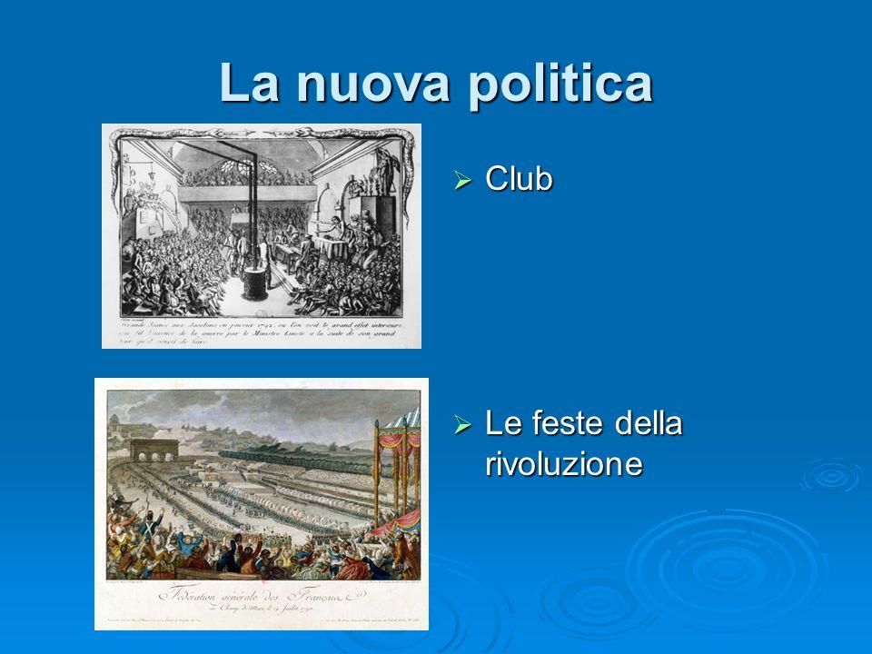 La nuova politica Club Club Le feste della rivoluzione Le feste della rivoluzione