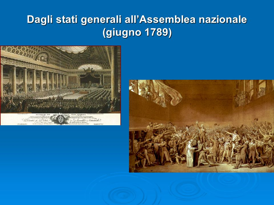 Dagli stati generali allAssemblea nazionale (giugno 1789)