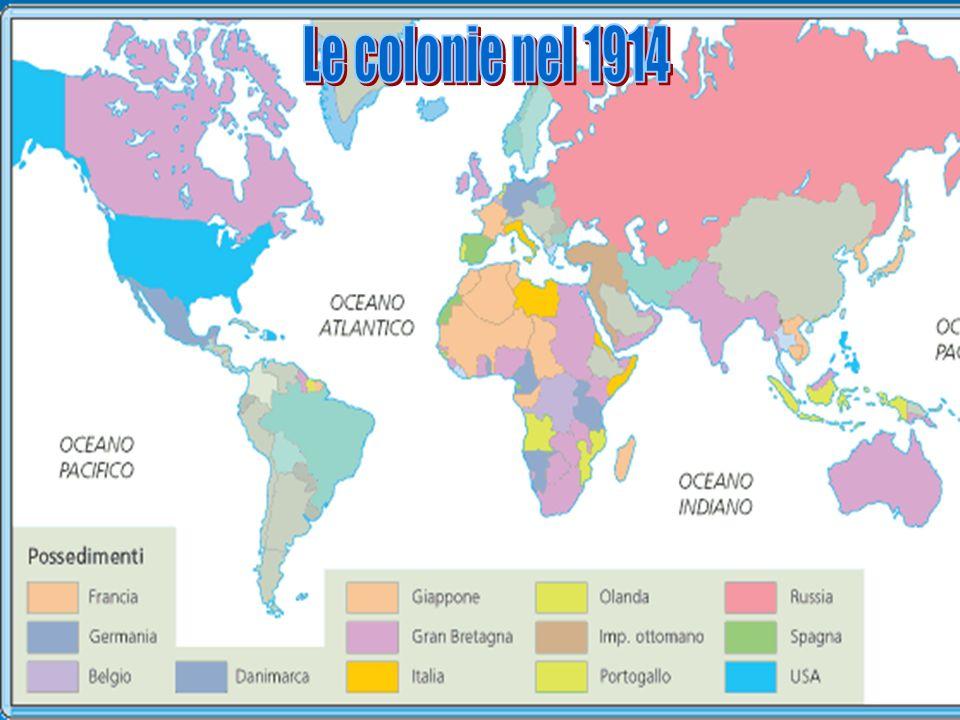 Colonie nel 1914