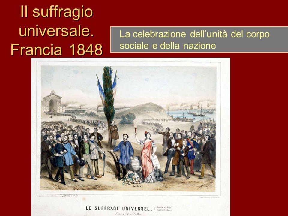 Il suffragio universale. Francia 1848 La celebrazione dellunità del corpo sociale e della nazione